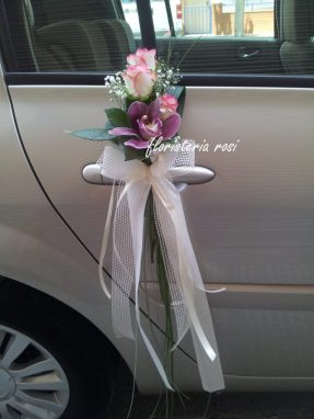 Ramilletes coche de novia sencillo