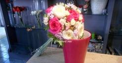 bouquet de rosas fucsia