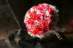 Bouquet espectacular de rosa roja