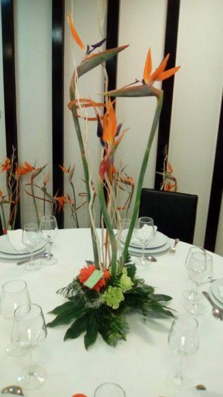 Centro de mesa para restaurante