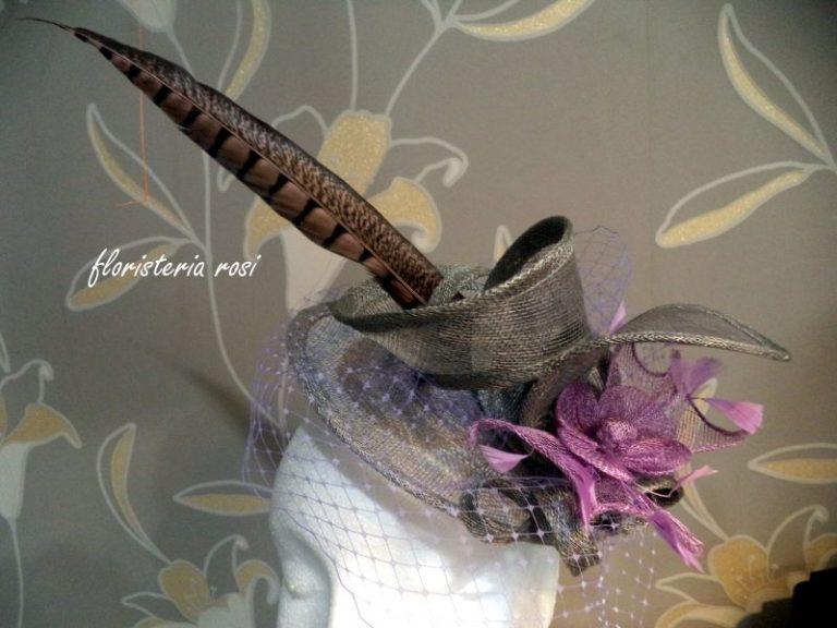 tocado de boda con pluma