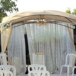 Pergola para boda en Murcia