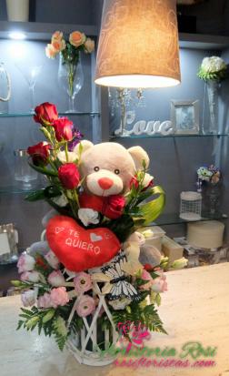 peluche y rosas para san Valentin