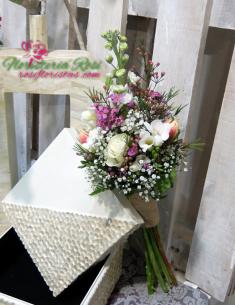 Ramo de flores silvestres para boda civil