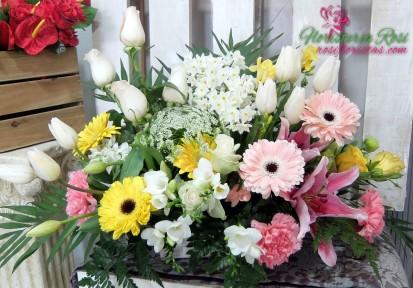 Tarrina de flores Todos los santos en Murcia