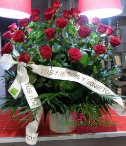 Tarrina de rosas en Murcia