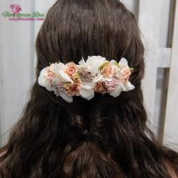 corona de comunion de flor preservada