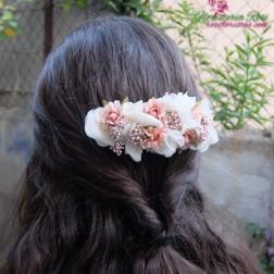 tocado de comunion de flor preservada